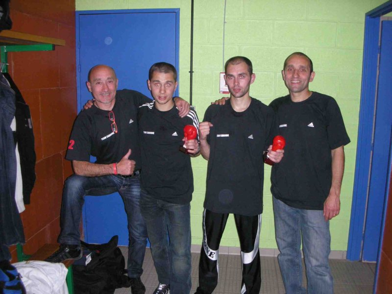 Demi Finale Elite savate 2009 Beaumont les valence richard carbone et romain carbone