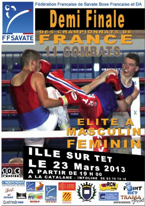 1/2 finale savate elite a 2013